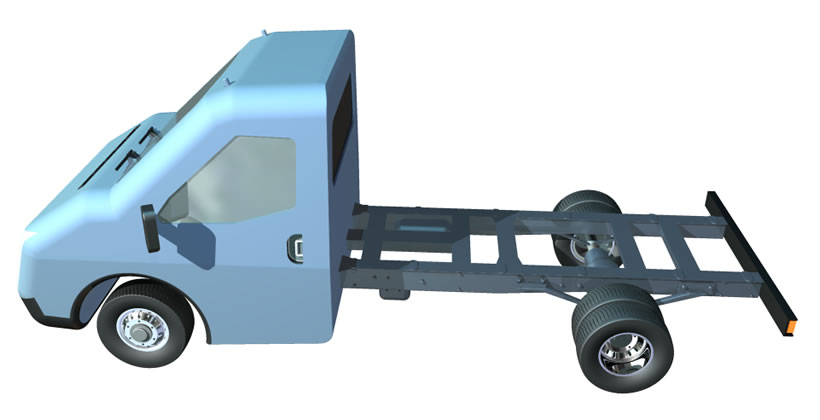 Ford Transit 3D model chassis 2