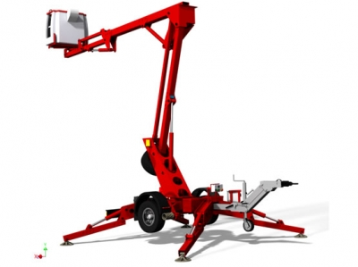Trailer mounted aerial platform