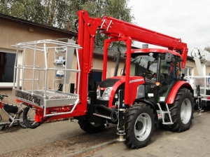 Tractor mounted work platform